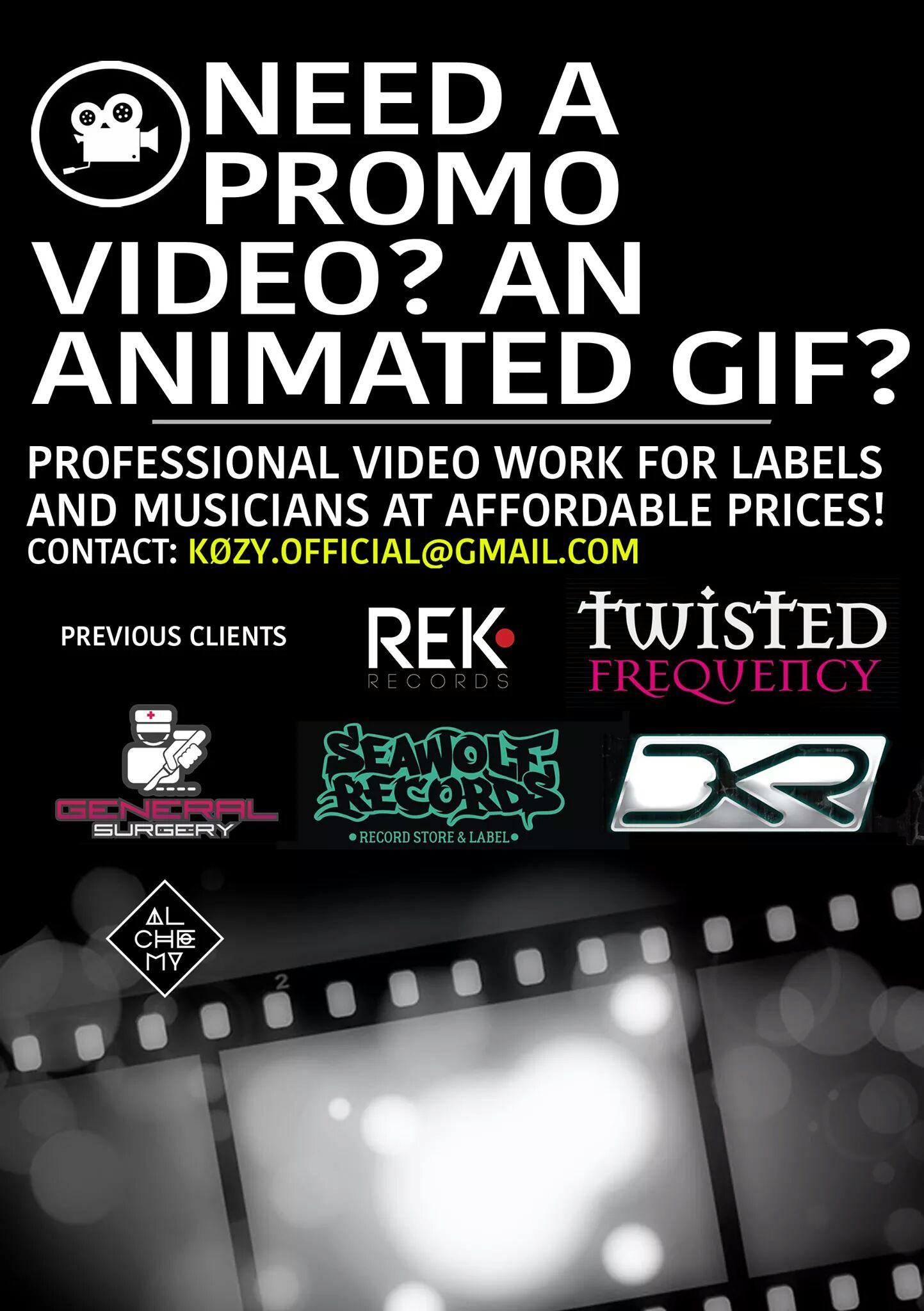 Got A Track? Want An Industry Standard Video?