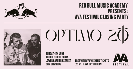 RBMA x AVA Festival Closing Party: Optimo 20 – Belfast