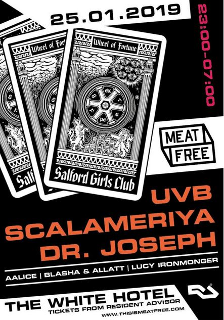 Meat Free Presents: UVB and Scalameriya (Live) at White Hotel Manchester