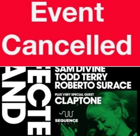 Defected Records Paddies Day event CANCELED because of Corona!