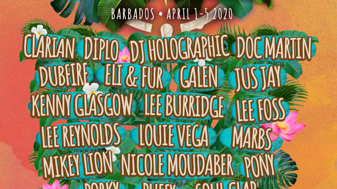 Vujaday Music Festival in Barbados Announces: Diplo, Dubfire, Lee Burridge, Louie Vega  Nicole Moudaber, Soul Clap