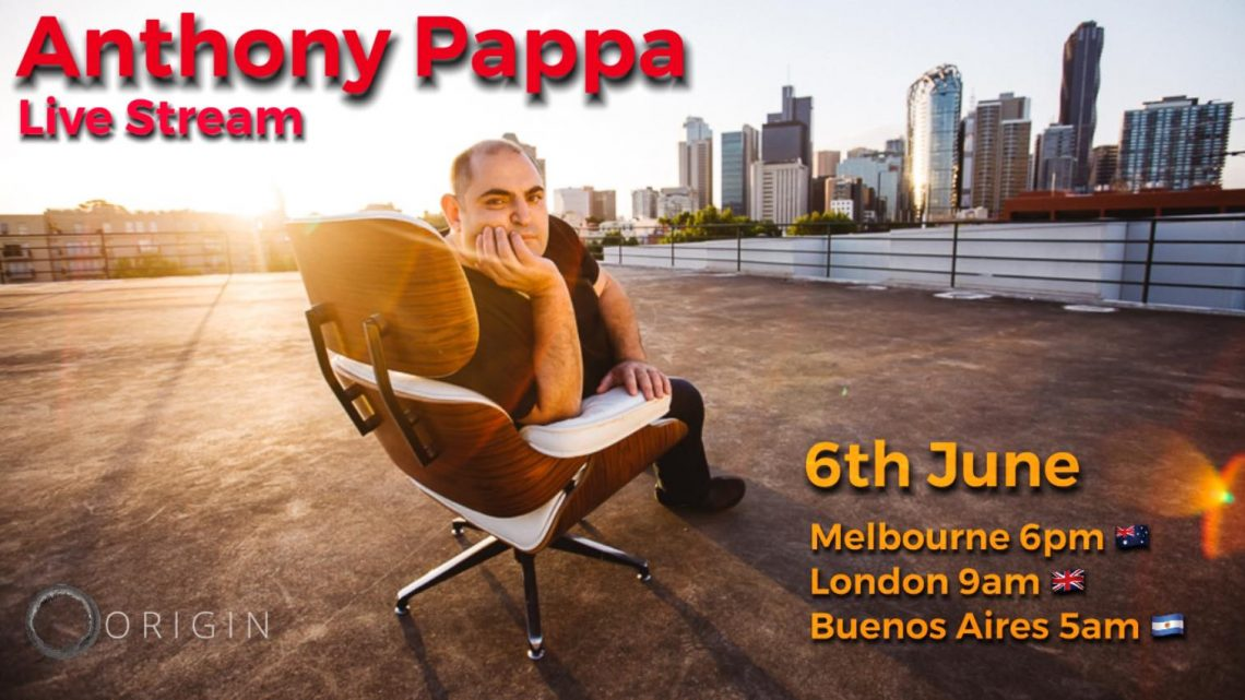 ANTHONY PAPPA LIVE ON ICONIC UNDERGROUND MAGAZINE JUNE 6TH 9 AM