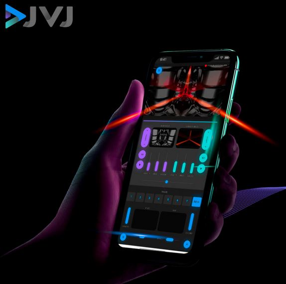 DJVJ IS A LIVE VISUAL MIXING APP FOR YOUR PHONE